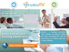 Salesitv - a leading worldwide sales training, consultative selling and sales consulting firm. Take in more about our unique approach to sales training. Read More - http://www.salesitv.com/