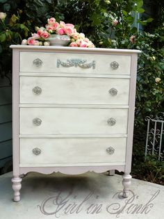 Girl in Pink: A Girly Dresser Makeover and Piles of Roses