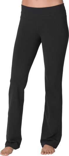 The Essential Black Yoga Pants — great for dress down days at work, with flats and nice zippered jacket to hide your hips