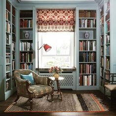 Home Library Rooms, Home Library Design, Home Interior Design, House Design, Cozy Home Library, Dream Library, Small Home Libraries, Library Study Room, Library Corner