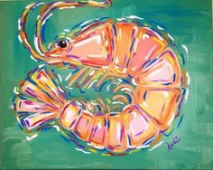 Bay Arts Center - sip, dip, and stroke-Gulf Coast Collection: shrimp