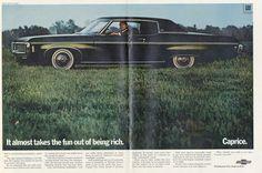 1969 Chevrolet Caprice Coupe Vintage Automobile by AdVintageCom