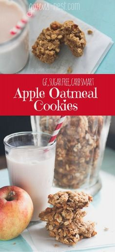 APPLE oatmeal cookies that are sugar free, gf, and a DELISH THM E treat!