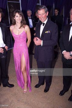 The Prince of Wales with Liz Hurley at the Versace/De Beers charity event at Syon House, London on June 9th 1999