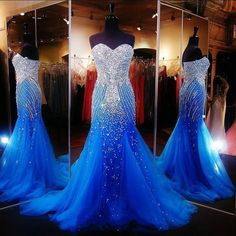Sexy Elegant Mermaid Prom Dresses for Pageant Women Lace up Long Tulle with Rhinestones Runway Corset Long Formal Evening Party Gowns 2017