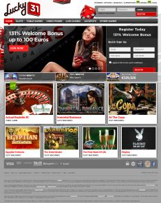 Lucky31 is a leader in the world of online casinos, thanks in large part to the wide variety of fun, easy-to-play, and enjoyable games we have available. These games include table games, slot machines, roulette, blackjack games, and more.
