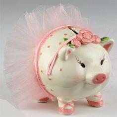 Mud Pie Ballerina Piggy Bank