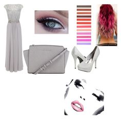 """The gray look"" by ggfashionlover ❤ liked on Polyvore"