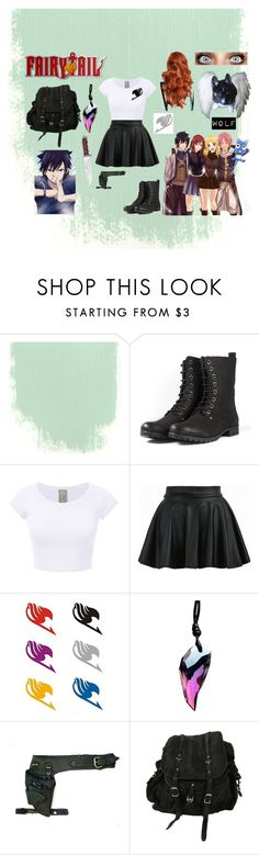 """""""FAIRY TAIL *Ellie Dragneel*"""" by eyelesswolfy ❤ liked on Polyvore featuring AllSaints"""