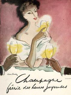 """Vintage Wine """"Try the Champagne Mademoiselle, It's quite Good. Vintage Champagne, Vintage Wine, Vintage Labels, Vintage Ads, French Vintage, Vintage Posters, Vintage Designs, Wine Advertising, Wine Making Process"""