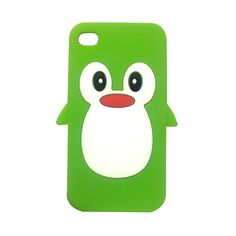 Cute Penguin iPhone 4 / 4S Case (Green).  Buy now for only $14.99!