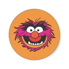 THE MUPPETS: Animal Head round stickers