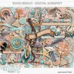 Personal Use :: Kits :: Boho Beach - Digital Scrapkit