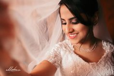 Pretty Bride Cute Smile  #TraditionalBride #ChristianWedding #BridalMagazine #BridalShoot #WeddingPhotography #KeralaWeddingPhotography #PrettyBride #PortraitMood #AddictionWeddings #GuruvayoorWedding #BridalAccessories #BridesFashion #WeddingPhotographer #IndianWedding #IndianBride #SouthIndianWedding # SouthIndianBride Kerala Wedding Photography, Bridal Shoot, Bridal Accessories, One Shoulder Wedding Dress, Flower Girl Dresses, Smile, Portrait, Wedding Dresses, Pretty