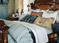 Driftwood Bed Upholstered Headboard And Louis Xvi Style
