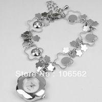 ladies watches top brand free shipping Retro Silver Flower with Crystal Rhinestone Women Alloy Quartz Adjustable Wrist Watch