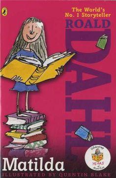 Matilda by Roald Dahl,http://www.amazon.com/dp/0142410373/ref=cm_sw_r_pi_dp_C65Xsb1RJ0MW9V6W   Age 7