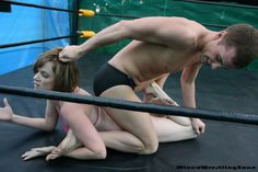Helena in mixed wrestling action