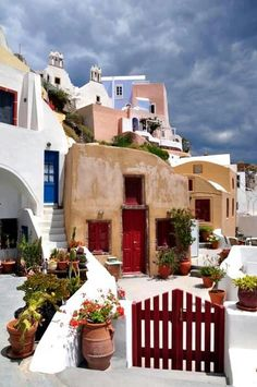 Bright even when the skies are dark. From the colorful Santorini Island.
