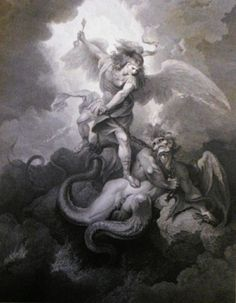 michael defeating satan - Google Search