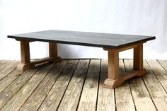 Salvaged Wood Natural and Carbon Top Tuscan by NorthFieldStore
