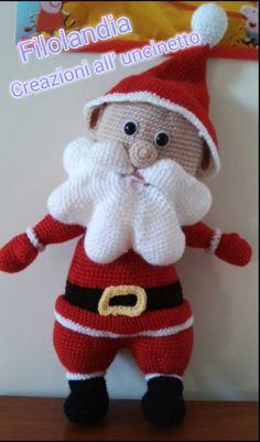 Babbo Natale #uncinetto #christmas #natale #babbonatale #crochet #handmade #navidad #noel