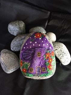 The stone is from the beautiful beaches of the Isle of South Uist in the Outer Hebrides, Scotland. The stone is hand painted and varnished to protect its finish. | eBay!