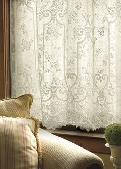 Charmant English Ivy Lace Curtain Panels