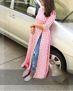 for this Tailer fit designer wear Stylish red and white color check printed rayon kurti. Look Fashion, Hijab Fashion, Indian Fashion, Fashion Dresses, Pakistani Dresses, Indian Dresses, Indian Outfits, Kurta Designs, Blouse Designs