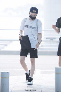 [AIRPORT] 150715: BTS Suga (Min Yoongi) at Incheon Airport #bangtan