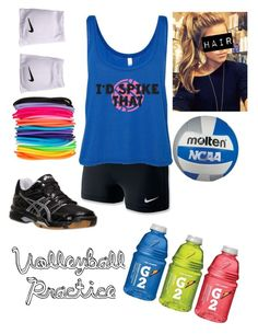 Volleyball practice by sddonald on Polyvore featuring polyvore, fashion, style, NIKE, Asics and ASOS