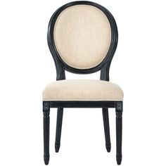 Home Decorators Collection Jacques Antique Ivory Natural Linen Dining Chair (Set of 2)-9488520350 - The Home Depot