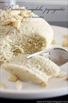 Bananų/migdolų pyragaitis per ... 3 minutes !