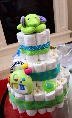 Diaper cake, home made!
