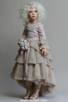 """Kristiana"" ($5,995, porcelain) by Zofia Zawieruszynski Collectible Dolls ---  Just beautiful!"