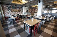 Mexil Design Resaturant Nostissimo Thessaloniki #mexil #restaurant #thessaloniki Thessaloniki, Conference Room, Restaurant, Modern, Table, Furniture, Design, Home Decor, Trendy Tree