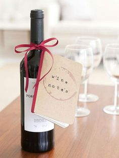 Easy Craft Ideas: Make your own hostess gift #wine