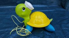 Vintage 1977 Fisher-Price Tag Along Turtle Pull Toy #644 #FisherPrice