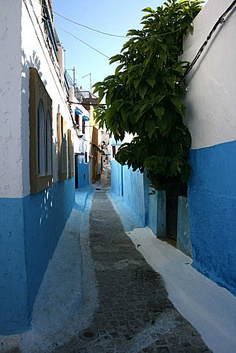 Street in the kasbah, Rabat