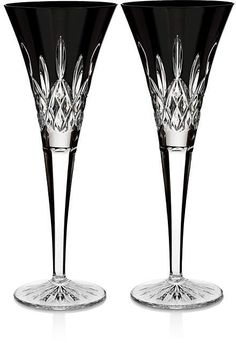 Waterford Crystal Lismore Black Champagne Flute, Set of 2 #champagne #wine #weddinggift #ad