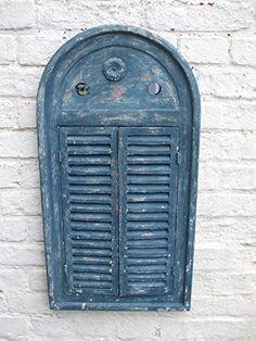 Traumhafter Wandspiegel m. Fensterläden,Landhausstil, blau,Shabby-Chic: Amazon.de: Küche & Haushalt