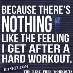 Workout Quotes About Training Poster