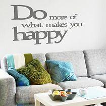 be HAPPY napis naklejki