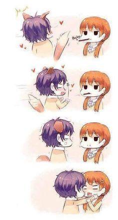 Cute Anime/Illustrated Couples ❤ My Little Monster- Tonari no Kaibutsu-kun