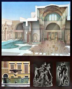 artist rendering Terme di Caracalla Rome