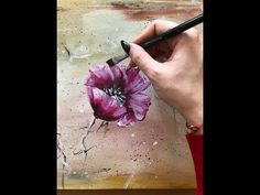 How to make an abstract flowers painting on canvas by Julia Kotenko - YouTube
