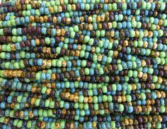 5/0 Opaque Bohemian Gypsy Picasso Mix Czech by beadsandbabble