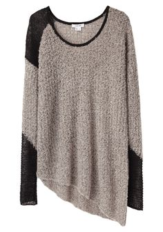 Helmut Lang- cozy pullover. Feel like this would look good on @Mallary Taylor Austin - cozy and long. :)