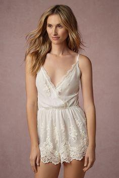 535c7bbea0b Translucid Lace Romper from  BHLDN Wedding Night Lingerie
