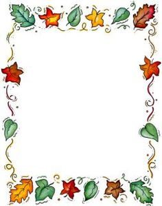 fall page borders microsoft word
